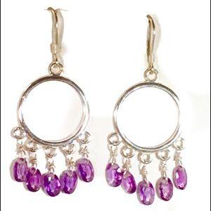 New Amethyst chandelier earrings Sterling Silver